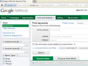 google-keyword-tool
